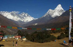 Everest View from Tengbuche Monastery 3860m