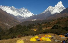 Camping at Tengbuche Monastery 3860m