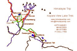 Khair Trek - Kopra View Trek Map